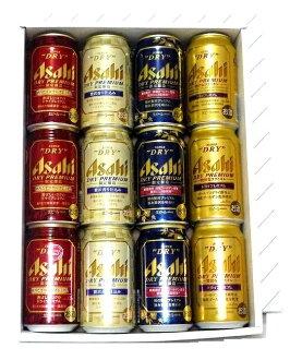朝日啤酒公司干保费 350 毫升礼品套装 (限量版 BREW: 日本豪华溢价 pkg)