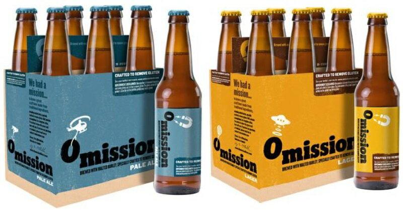 【Omission Brewing】オミッション ラガー/ペールエール 355ml 飲み比べ12本セット