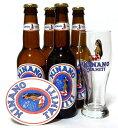 ヒナノビール(HINANO)4本 グラス付きセット