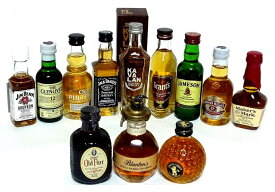 輸入ウイスキー ミニチュアボトル 50ml 12本セット