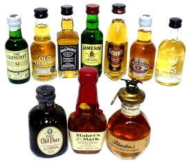 輸入ウイスキー ミニチュアボトル 50ml 10本セット