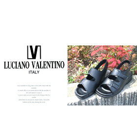 LUCIANOVALENTINOITALY日本製コンフォートサンダルレディース歩きやすいストラップ黒オフィスサンダル疲れない美脚かわいいサンダルレディースヒール人気ナースサンダル黒美脚疲れにくいナースシューズ109-19710