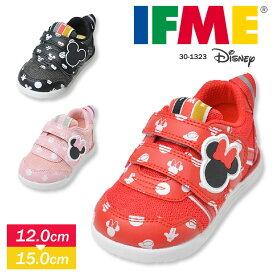 イフミー IFME ディズニー 子供靴 スニーカー 男の子 ベビーシューズ 女の子 軽量 ミッキー ミニー キッズ 男の子 マジックテープ ファーストシューズ ベビー靴 ホワイト 白 ブラック 黒 かわいい 赤ちゃん 靴 プレゼント ギフト イフミーライト 1323 送料無料