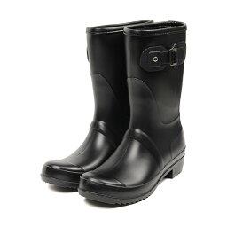 有雷恩長筒靴女士短鞋跟雷恩長筒靴女子的漂亮的高筒靴喜愛的橡膠長筒靴鞋墊的雪地靴防水防寒雪靴不打滑的防滑物防滑雪鞋騎手長筒靴黑雨鞋人氣196-7404