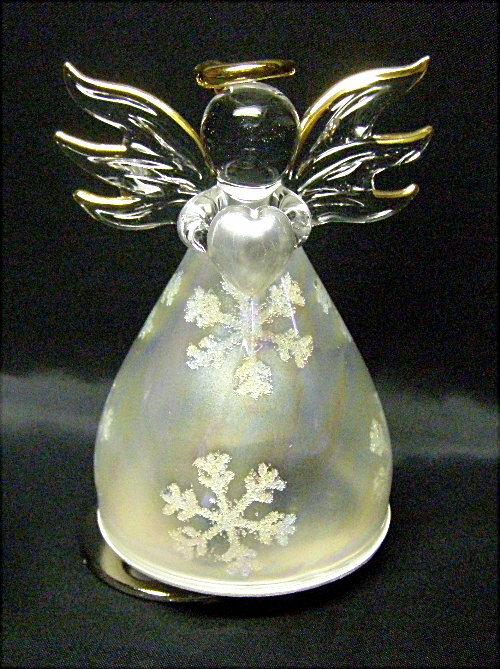 ガラス天使のオルゴール〔雪の結晶.ハート〕