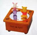 【ディズニー】プーさん&ピグレット回転木製オルゴール CD‐581S