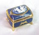 ミッキー.ミニー・アンチモニー(角形・ブルー)宝石箱オルゴ-ルCB147B【プレゼント】 【ディズニー】【記念/お祝い】