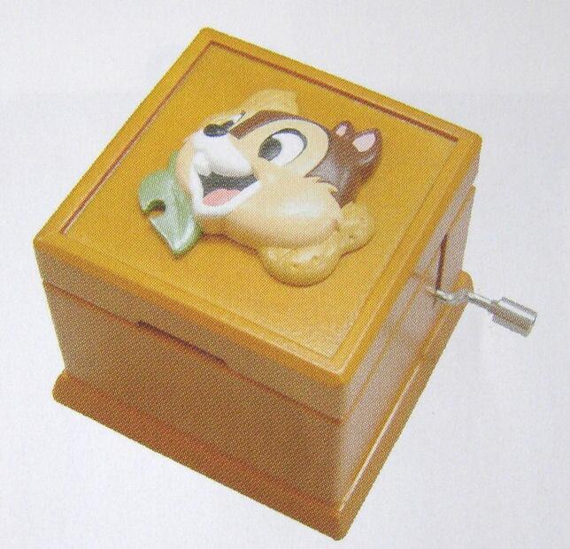 【ディズニー】チップ 木製型手廻しオルゴールボックス.CD-171S