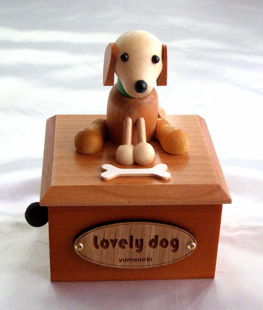 ビーグル 木製からくり犬オルゴール TM001A
