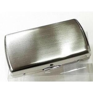 【ポイント3倍】シガレットケース 10本 70mm ヴィーナスベビー ショートたばこ専用 タバコケース 真鍮製 シルバーサテン 手巻きタバコや両切りタバコにも シャグポーチ
