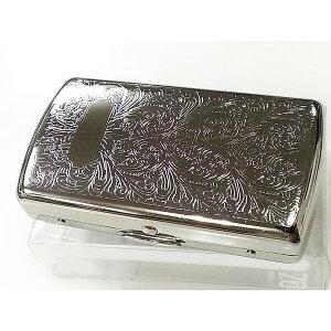 【ポイント3倍】シガレットケース 70mm ヴィーナスベビー ショートたばこ専用 タバコケース 真鍮製 シルバーアラベスク 手巻きタバコや両切りタバコにも
