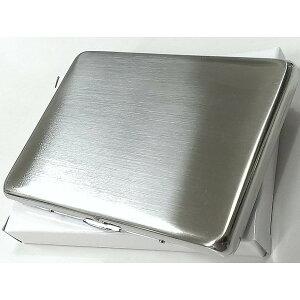 シガレットケース シルバーサテン ロング タバコケース 薄型 潰れない シンプル 煙草入れ 真鍮製 メンズ レディース ギフト