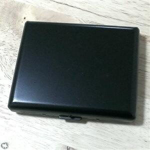 シガレットケース 20本 ロング タバコケース マットブラック 100mm 艶消し 黒 シンプル 頑丈 たばこケース メンズ