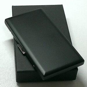 シガレットケース リリースリム マッドブラック ロングサイズ対応 タバコケース 薄型モデル 日本製 真鍮製 メンズ 艶消し黒 ギフト プレゼント 動画有り