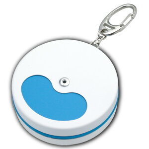 携帯灰皿 ブルー&ホワイト キーホルダー付き おしゃれ アイコス メンズ 丸形 屋外 灰皿 ギフト プレゼント