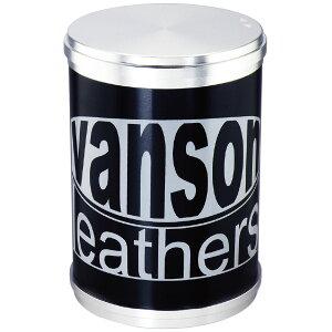 vanson アッシュシリンダーBIG 卓上灰皿 バンソン ロゴ かっこいい ブランド ブラック おしゃれ 黒 インテリア タバコ 雑貨 喫煙具 プレゼント ギフト メンズ