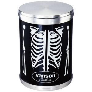 vanson アッシュシリンダーBIG 卓上灰皿 ボーン ブランド バンソン かっこいい おしゃれ ブラック 黒 インテリア タバコ 雑貨 喫煙具 プレゼント ギフト メンズ