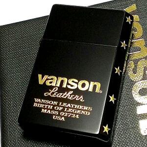 オイルライター バンソン×ギアトップ 日本製 ライター ブランド ロゴデザイン マットブラック 黒 金 重厚 かっこいい おしゃれ GEAR TOP×VANSON 国産品 メンズ ギフト