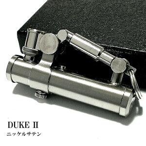 オイルライター DUKE2 ニッケルサテン シルバー デューク かっこいい レトロ 無地 日本製 フリント 銀 メンズ ブランド おしゃれ ギフト プレゼント 動画あり