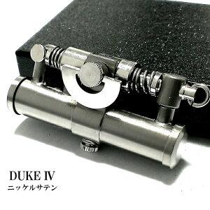 オイルライター DUKE4 ニッケルサテン おしゃれ レトロ デューク 日本製 シルバー かっこいい 銀 無地 フリント メンズ ブランド ギフト プレゼント 動画有り