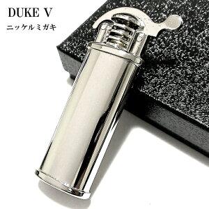 オイルライター DUKE5 ニッケルミガキ デューク おしゃれ レトロ 日本製 シルバー かっこいい 銀 無地 フリント メンズ ブランド ギフト プレゼント 動画あり