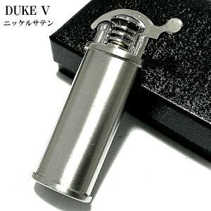 オイルライター デューク DUKE5 ニッケルサテン おしゃれ レトロ 日本製 シルバー かっこいい 銀 無地 フリント メンズ ブランド ギフト プレゼント 動画有り