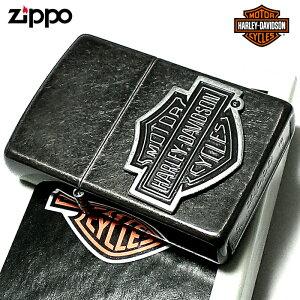 ZIPPO ライター ハーレーダビッドソン ジッポ ブラックバレル アンティーク 黒 メタル かっこいい USモデル シンプル おしゃれ 動画有り メンズ ギフト プレゼント