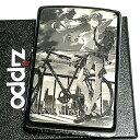 ZIPPO エヴァンゲリオン アスカ/自転車 ジッポ ライター 限定 シリアル入り ブラックチタンコート かっこいい 黒 レー…