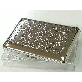 名刺入れ ダブルカードケース シルバーアラベスク 綺麗 潰れない 名刺ケース メンズ レディース