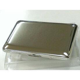 名刺入れ ダブルカードケース 鏡面シルバー 綺麗な名刺ケース メンズ レディース 潰れない