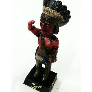 インディアンフィギュア バブルヘッド人形 首振り人形 フィギュア 喫煙具グッズ インテリアに♪ 動画あり
