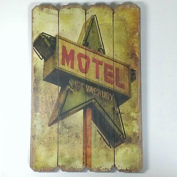 アメリカン看板 ウッデンウォールデコ 木製 壁飾り 看板 モーテル MOTEL B ウッド インテリア 壁掛け カフェ ホテル