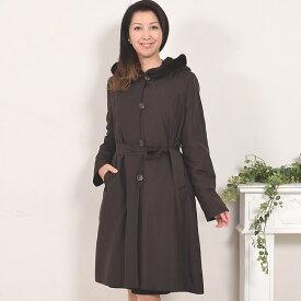 シルクリバーシブルミンク&レッキスラビットレイアードコート 送料無料!!(MR2245) 毛皮・ファー 女性用 レデイース プレゼント ギフト coat ミンクコート ladies 毛皮コート ミセス ファッション 40代 50代