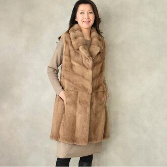 7ca074859ba3d Hayashiguchi  The SAGA pastel mink best long best! The (MB2376) Lady s high  quality fur fur best! Fur outer fur fur best winter clothing present