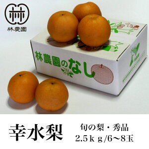予約販売 幸水梨 約2.5kg(6〜8玉) ギフト・お中元 8月5日前後発送開始
