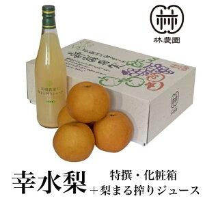 幸水特選梨+梨ジュース 化粧箱入(4〜5玉)