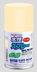 アトムハウスペイント(塗料/ペンキ)水性スプレー 100MLベージュ