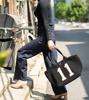 HYN.ナンバー11ボア舟形トートバッグ【beariaLベアリアLサイズ】大きいA4通勤通学バック