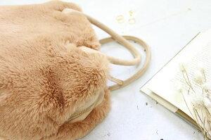 エコファー×本スウェードボストンバッグMサイズ【Gerlieガーリエ】byHAYNI.ヘイニバッグ#bag_hayniファーバッグレディース/
