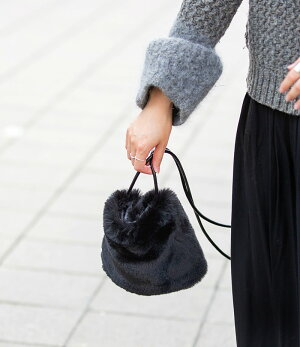 【Minutoミヌト】/byHAYNI.ヘイニバッグ#bag_hayniファーバッグレディース/