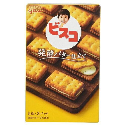 ビスコ 発酵バター仕立て 【15枚入×10個】(グリコ)