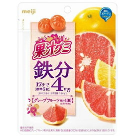 果汁グミ 鉄分グレープフルーツ 【68g×8個】(明治)【お菓子】