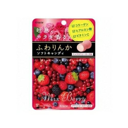 ふわりんかソフトキャンディ ミックスベリーローズ【32g×10袋】(クラシエフーズ)
