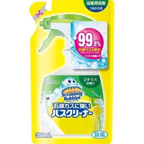 【期間特売】スクラビングバブル 石鹸カスに強いバスクリーナー シトラスの香り つめかえ用 【350ml】(ジョンソン)【お風呂用洗剤/お風呂掃除】