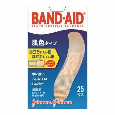 J&J バンドエイド 肌色タイプ スタンダードサイズ【25枚入】(ジョンソン・エンド・ジョンソン)