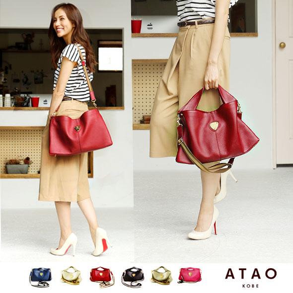 【ATAO】堅牢なレザーを贅沢に使ったバッグ elvy(エルヴィ)A4バッグ【楽ギフ_包装】
