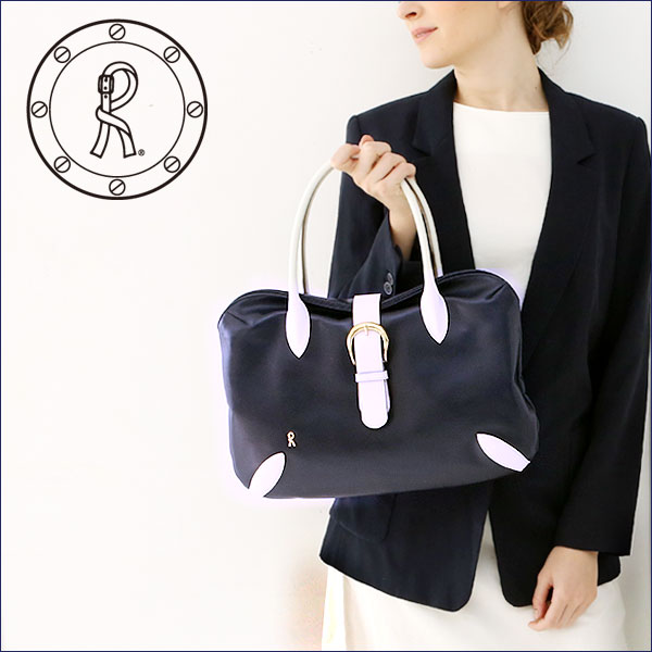 """【ロベルタ】創業デザイナーも愛した、働く女性のための""""正装""""A4バッグ Mesicana Carriera(メシカーナ カリエラ)ネイビー×ホワイトRoberta di Camerino(ロベルタディカメリーノ)WEB限定トートバッグ"""