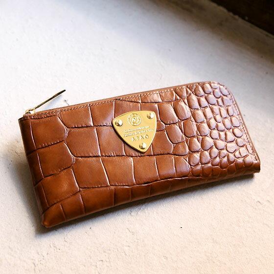 【ATAO】長財布 レディース limo cocco (コッコ)イタリア製レザーを使ったクロコタッチのロングウォレット