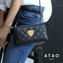【ATAO】アタオ お財布の機能を備えたクラッチバッグにもなるお財布ポシェット(ウォレットショルダー)booboo black…