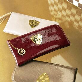 【ATAO】長財布とは思えない薄さ。くったり柔らかいエナメルレザーのロングウォレット●Limoリモerutuoc限定舵チャームバージョン● 355-1056 355-1040